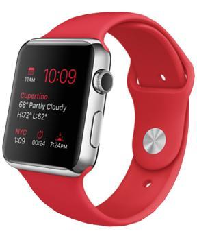 Apple Watch Sport 42mm with Sport Band RedПерсональное i-устройство подарит Вам новый уровень мобильной свободы. Девайс взаимодействует с iPhone через беспроводную связь, обладая точностью хода 50 миллисекунд. Новинка гибко настраивается в соответствии с динамичными вкусами своего обладателя. Уст...<br>
