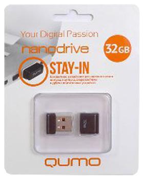 USB-накопитель Qumo Nano USB 2.0 32GB Black
