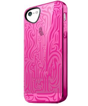 Накладка силиконовая для iPhone 5/5S/SE Itskins Ink розовая