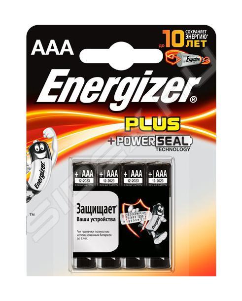 Батарейка Energizer Plus AAАБатарейки предназначены для питания электронных портативных устройств: MP3-плееров, фотокамер, пультов ДУ, беспроводных клавиатур... Современные элементы питания отличаются длительным сроком годности и высокой электрической емкостью.<br>