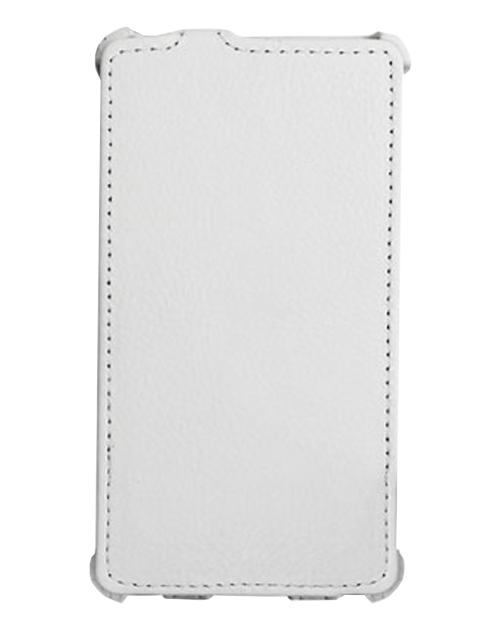 Чехол кожаный Ainy для Sony Xperia Z1 Mini/Compact белый