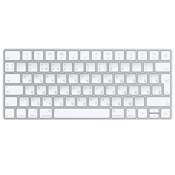 Клавиатура  Apple Magic KeyboardФирменная Apple-клавиатура сочетает в себе премиальный дизайн, мощный аккумулятор и современный клавишный механизм. Эта низкопрофильная клавиатура, корпус которой изготовлен из авиационного алюминия, делает печать больших текстов приятным и легким занятие...<br>