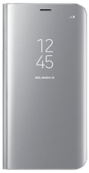 Чехол для Samsung Galaxy S8 Clear View Standing Cover silverПрактичный чехол защищает смартфон при падениях и ударах. Не секрет, что гаджеты часто роняют. Их ремонты стоят недешево. Позаботьтесь об этом заранее — защитите любимый девайс. В этом стильном чехле ваш мобильный гаджет будет долго выглядеть новым.<br>