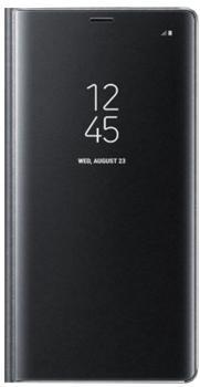 Чехол для Samsung Galaxy Note 8 Clear View Standing Cover blackПрактичный чехол защищает смартфон при падениях и ударах. Не секрет, что гаджеты часто роняют. Их ремонты стоят недешево. Позаботьтесь об этом заранее — защитите любимый девайс. В этом стильном чехле ваш мобильный гаджет будет долго выглядеть новым.<br>