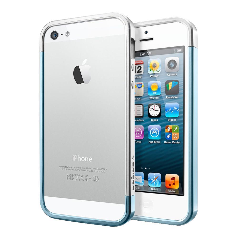 Бампер для iPhone 5/5S SGP Liner EX Slim Metal Blue