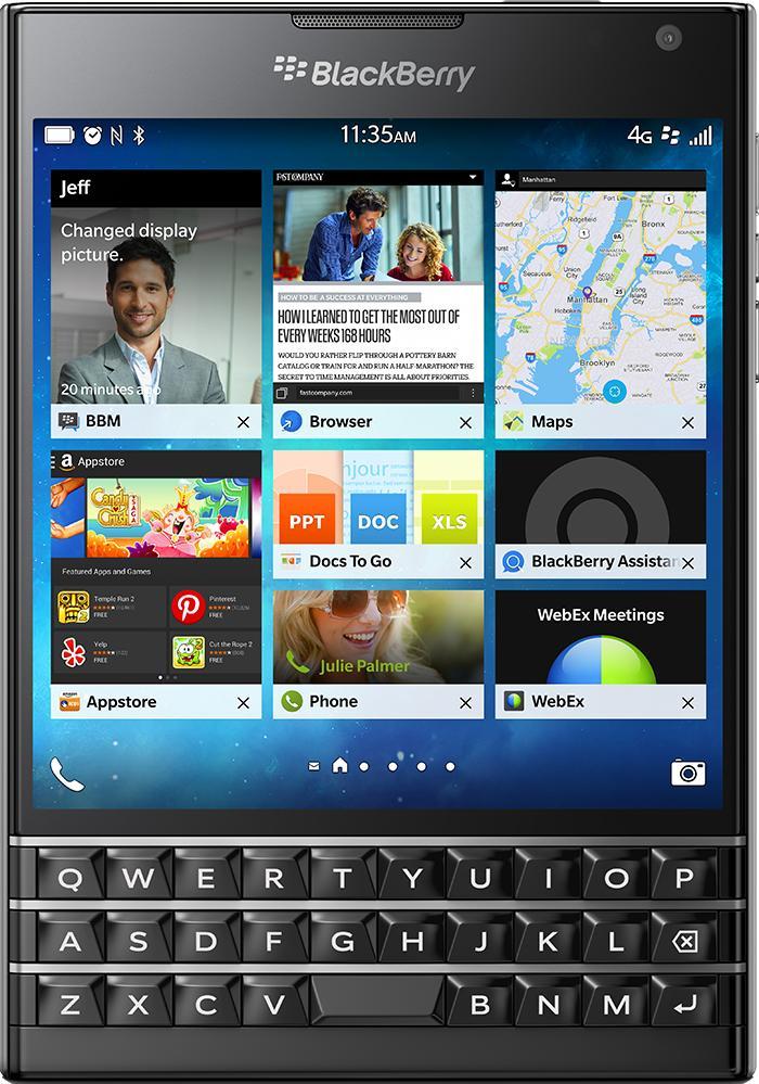 BlackBerry Passport 32 GbДолгожданный девайс от солидной компании получился неповторимым! Уникальный «квадратный» дизайн дополняется здесь полноценной QWERTY-клавиатурой, солидным аккумулятором на 3450 мАч и просторным дисплеем 453 ppi. Устройство может записывать Full HD видео п...<br>