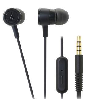 Наушники Audio-Technica ATH-CKL220iS черныеAudio-Technica ATH-CKL220iS — высококачественные наушники-гарнитура от всемирно известного бренда. Модель оптимизирована для работы с современными мобильными гаджетами: смартфонами, планшетами, аудио-плеерами. Закрытое акустическое оформление обеспечивает...<br>