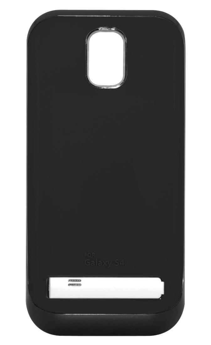 Чехол-аккумулятор для Galaxy S IV /3200mAh/ с флипом черный