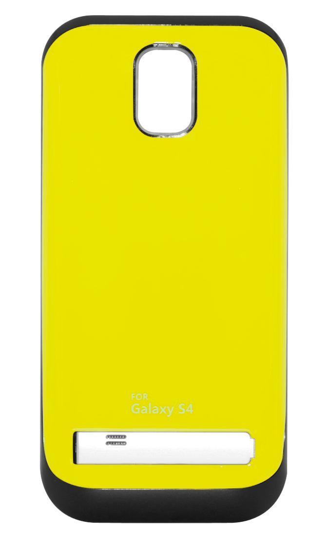 Чехол-аккумулятор для Galaxy S IV /3200mAh/желтыйХотите заряжать телефон в несколько раз реже? Дополнительный аккумулятор Power Bank решит эту проблему. Запасная батарея встроена в стильный чехол, надев который вы можете использовать телефон без боязни, что он разрядится. То есть вам доступно еще больше...<br>