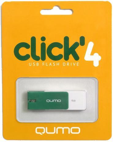 USB-���������� Qumo Click USB 2.0 4GB Jade