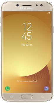 Samsung Galaxy J7 SM-J730 16Gb gold 2017Смартфон Samsung Galaxy J7 красив, доступен, функционален. Эффектный дизайн аппарата дополнен массой заманчивых функций. Always on Display помогает быть в курсе событий, не разблокируя свой девайс. Dual-SIM заменяет одним телефоном две устаревшие трубки. ...<br>
