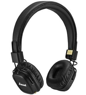 Наушники MARSHALL Major II Bluetooth черныеMARSHALL Major II Bluetooth — премиальные беспроводные наушники с поддержкой кодека aptX. Модель получилась удачной. Динамики 40 мм, специально созданные для Major II, позволяют прослушивать музыку практически в CD-качестве. Ключевые плюсы изделия: велико...<br>