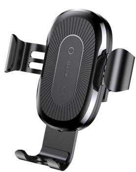 Автодержатель Baseus Metal Wireless Charger Gravity Car Mount Black
