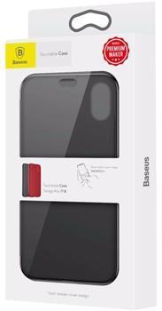 Чехол для iphone X Baseus Touchable Case BlackПрактичный чехол защищает смартфон при падениях и ударах. Не секрет, что гаджеты часто роняют. Их ремонты стоят недешево. Позаботьтесь об этом заранее — защитите любимый девайс. В этом стильном чехле ваш мобильный гаджет будет долго выглядеть новым.<br>