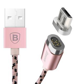 Кабель Lightning магнитный Baseus Insnap Series розовое золотоКабель для мобильных гаджетов Apple с портом Lightning.<br>
