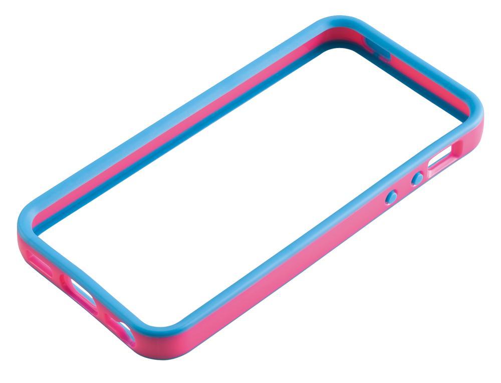 Бампер для iPhone 5 Gear4 The Band Blue/Pink
