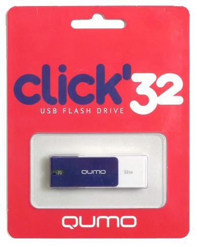 USB-накопитель Qumo Click USB 2.0 32GB SapphireЯркая и легкая флешка Qumo Click 32 GB с интерфейсом подключения USB 2.0 поможет вам хранить важные данные, куда бы вы ни отправились.<br>