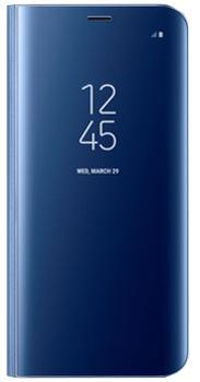 Чехол для Samsung Galaxy S8 Plus Clear View Standing Cover blueПрактичный чехол защищает смартфон при падениях и ударах. Не секрет, что гаджеты часто роняют. Их ремонты стоят недешево. Позаботьтесь об этом заранее — защитите любимый девайс. В этом стильном чехле ваш мобильный гаджет будет долго выглядеть новым.<br>