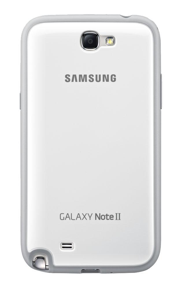 Чехол для Galaxy Note 2 защитный белыйНесмотря на миниатюрные размеры, оригинальный чехол от Samsung станет серьезной защитой для вашего Galaxy Note 2. Продуманная конструкция защищает гаджет со всех сторон: твердый каркас из прорезиненного пластика легко надевается и надежно удерживает тел...<br>