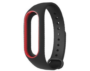 Ремешок для Xiaomi Mi Band 2 черный с красной каймойЭтот стильный аксессуар - must have активного человека с фитнес-браслетом Xiaomi. Ремешок обеспечит сохранность гаджета при тренировках и занятиях экстремальным спортом. Аксессуар изготовлен из гипоаллергенного силикона, устойчив к износу, выдерживает бол...<br>
