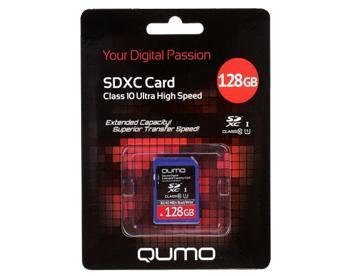 Карта Памяти SDXC 128Gb Qumo + ADP 128 GbКарта памяти емкостью 128 ГБ позволяет хранить мультимедиа-файлы.<br>