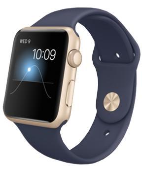 Apple Watch Sport 42mm Midnight Bue Sport Band Gold