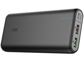 Внешний аккумулятор универсальный Anker PowerCore 20000 (A1274H11) mAh BlackAnker PowerCore 20000 mAh — мобильный аккумулятор для зарядки гаджетов без сети. Ключевые плюсы устройства: большая вместимость, практичный дизайн, поддержка технологии Quick Charge 3.0 от Qualcomm. Благодаря этому совместимая техника заряжается до 80% бы...<br>
