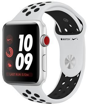 Apple Watch Series 3 Cellular 42mm Silver Aluminum Case with Pure Platinum/Black Nike Sport BandApple Watch Series 3 Nike+ Cellular 42mm — не только мощный гаджет, но и стильный аксессуар. Девайс помогает добиваться новых высот в тренировках. Модель идеально подходит для бегунов. Гаджет появился в результате сотрудничества двух легендарных компаний ...<br>