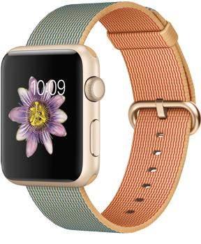 Apple Watch Sport 42mm with Woven Nylon Gold Royal Blue