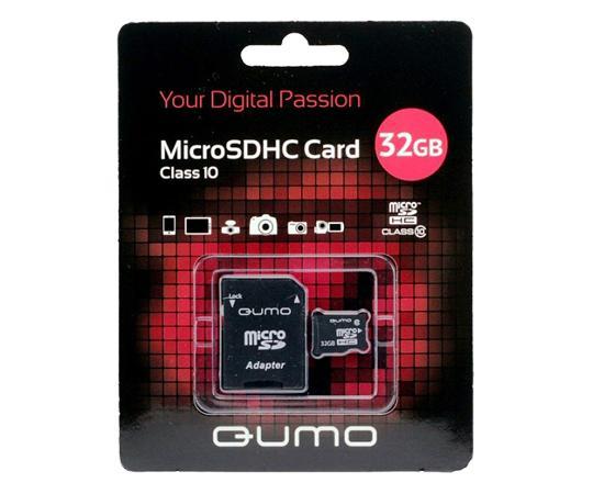 MicroSDHC 32GB QUMO Сlass 10 UHS-I ,3.0 с адаптером SD 32 GbФлеш-карта QUMO MicroSDHC 32GB Class 10 – это универсальная карта памяти, которая подходит для цифровой техники, поддерживающей данный формат карт. Она призвана расширить память различных устройств. Class 10 в сочетании с UHS-I (Ultra High Speed) обеспечи...<br>