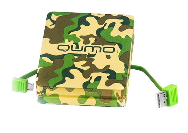 Внешний аккумулятор QUMO PowerAid Real Man 10000 mAh, 2A, 1USB