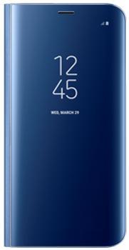 Чехол для Samsung Galaxy S8 Clear View Standing Cover blueПрактичный чехол защищает смартфон при падениях и ударах. Не секрет, что гаджеты часто роняют. Их ремонты стоят недешево. Позаботьтесь об этом заранее — защитите любимый девайс. В этом стильном чехле ваш мобильный гаджет будет долго выглядеть новым.<br>