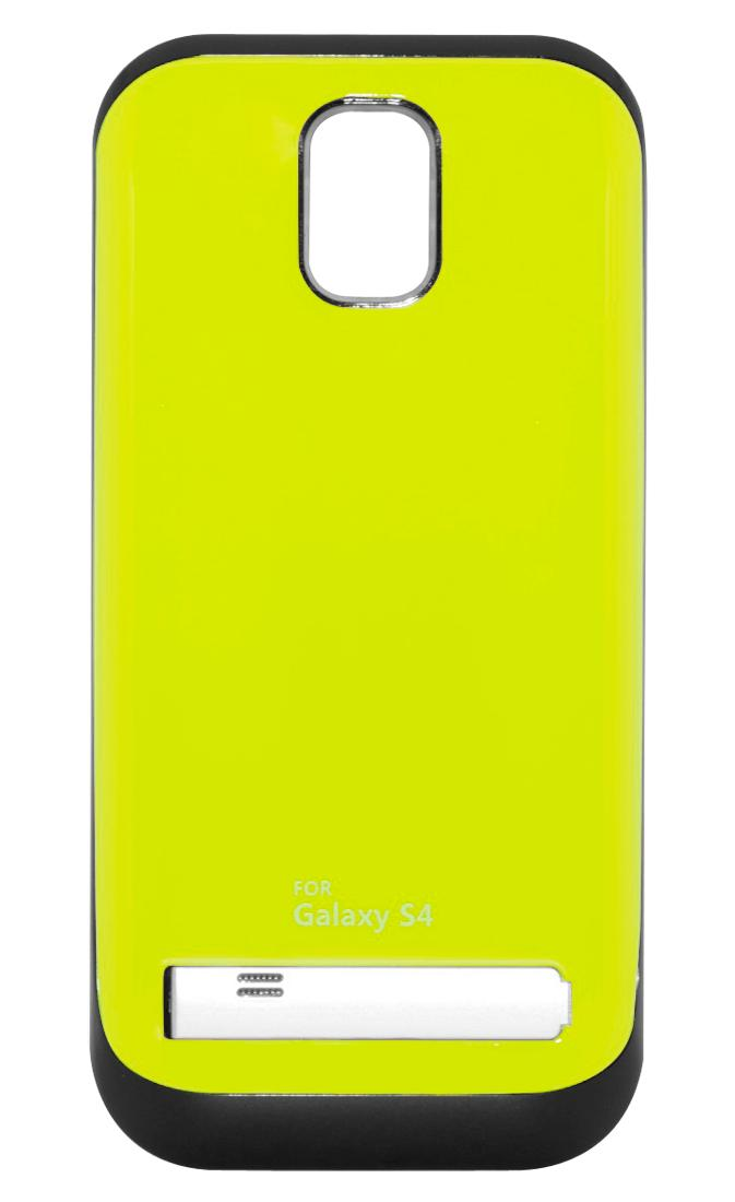 Чехол-аккумулятор для Galaxy S IV /3200mAh/ с флипом зеленый