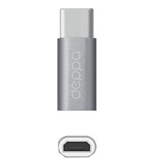 Адаптер Deppa micro-USB to Type-C grey