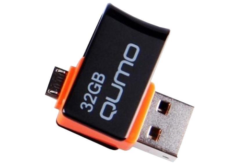 USB-накопитель Qumo Hybrid OTG MicroUSB+USB 32 GbКомпактный USB-накопитель хранит ваши данные: фотоснимки, музыку, видео, документы… С помощью флэшки легко перенести информацию с одного компьютера на другой. USB-накопитель — практичная вещь из разряда must have и отличный подарок.<br>