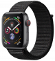 Apple Watch Series 4 GPS+ Cellular 40mm Space Gray Aluminum Case with Black Sport Loop MTVF2
