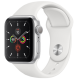Apple Watch Series 5 GPS 44mm Silver Aluminum Case with White Sport Band MWVD2