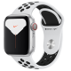 Apple Watch Series 5 GPS+ Cellular 44mm Silver Aluminum Case with Pure Platinum Black Nike Sport Ban