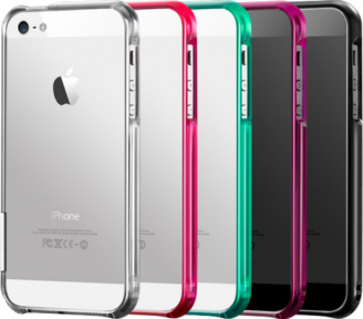 Бампер для iPhone 5 More Color Gem Lucent Jelly Ring