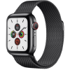 Apple Watch Series 5 GPS+ Cellular 40mm Space Black Stainless Steel Case with Space Black Milanese L