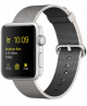 Apple Watch Series 2 42mm Silver Aluminum Case with Pearl Woven Nylon