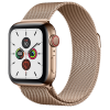 Apple Watch Series 5 GPS+ Cellular 44mm Gold Stainless Steel Case with Gold Milanese Loop MWWJ2