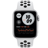 Apple Watch Series 6 GPS + Cellular 44mm Silver Aluminium Case Pure Platinum/Black Nike Sport Band