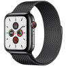 Apple Watch Series 5 GPS+ Cellular 44mm Space Black Stainless Steel Case with Space Black Milanese L