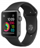 Apple Watch Series 2 38mm space grey aluminium case with black sport band