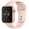 Apple Watch Series 5 GPS 44mm Gold Aluminum Case with Pink Sand Sport Band MWVE2