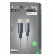 Кабель Dorten USB-C to Lightning Cable Metallic Series