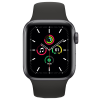 Apple Watch SE GPS + Cellular 40mm Space Gray Aluminium Case with Black Sport Band MYEK2