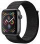 Apple Watch Series 4 GPS 40mm Space Gray Aluminum Case with Black Sport Loop MU672