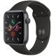 Apple Watch Series 5 GPS 44mm Space Grey Aluminum Case with Black Sport Band MWVF2